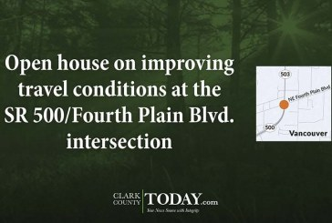 Open house on improving travel conditions at the SR 500/Fourth Plain Blvd. intersection