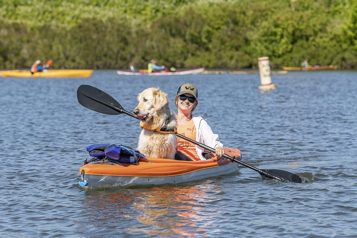 This photo shows a participant of the 2018 Ridgefield Big Paddle event. This year's event will take place on Sat., June 1. Photo by Mike Schultz