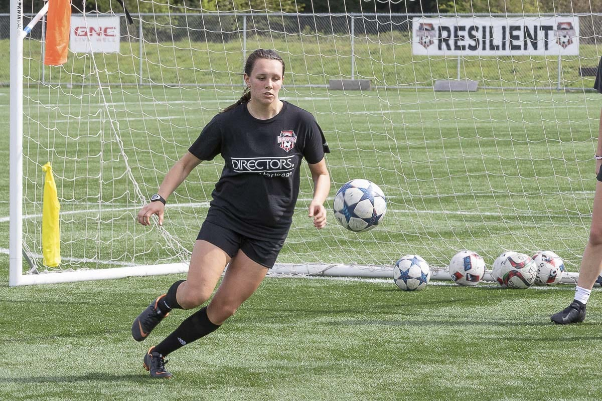Samantha Rosenkranz, a former Union Titan, prepares for the 2019 season with the Washington Timbers Women's First Team. Rosenkranz will be playing for the University of Mary next school year. Photo by Mike Schultz