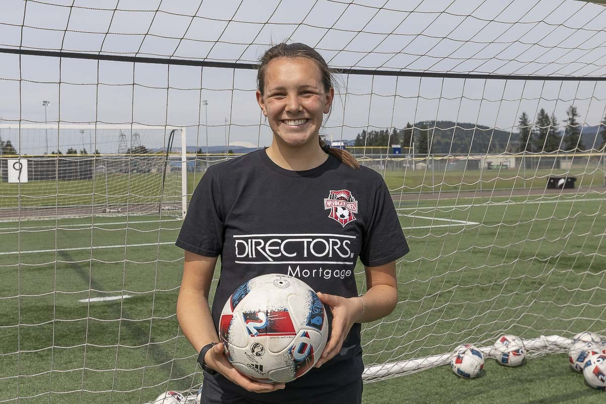 Samantha Rosenkranz said it is a wish-come-true for Clark County to have a women's club team for college-age players to improve their skills. Photo by Mike Schultz