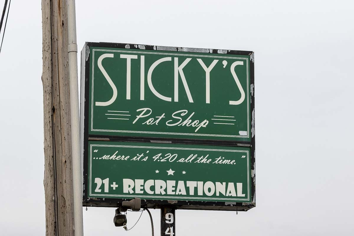 Sticky's Pot Shop on Highway 99 in Hazel Dell could re-open if the county council lifts a 2012 moratorium on marijuana-related businesses. Photo by Mike Schultz