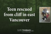Teen rescued from cliff in east Vancouver