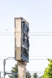 The old Fred Meyer store sign on Fourth Plain at Grand Avenue. Photo by Mike Schultz
