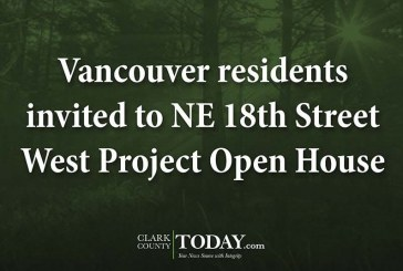 Vancouver residents invited to NE 18th Street West Project Open House