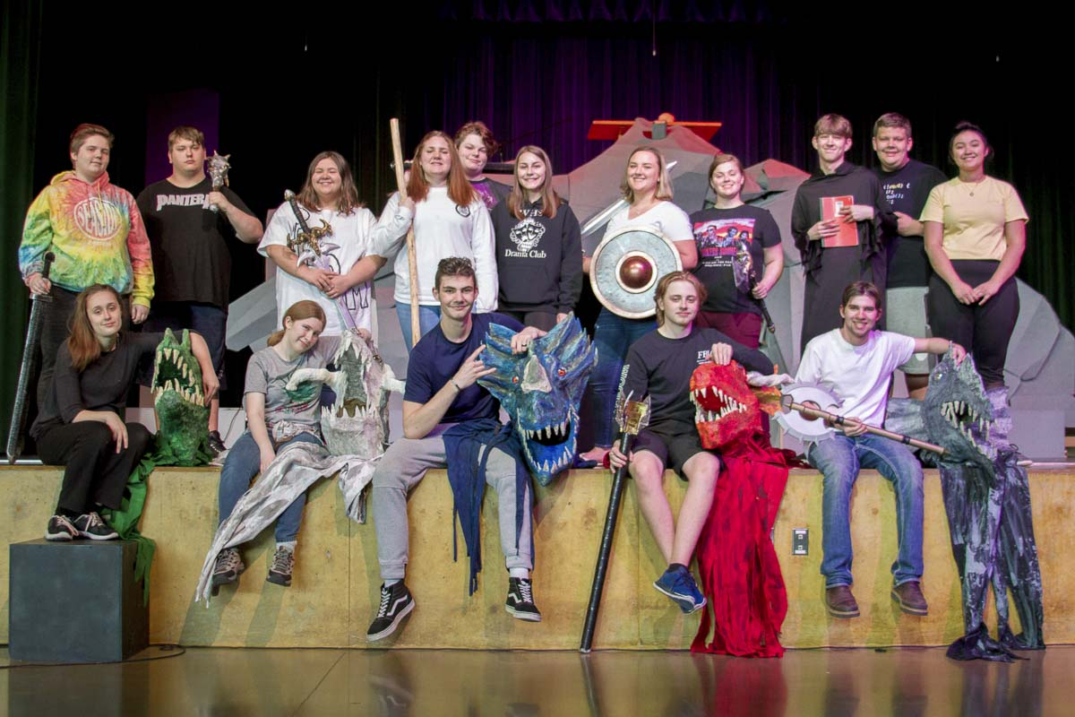 Members of Woodland High School's Drama Club are shown here. Photo courtesy of Woodland School District