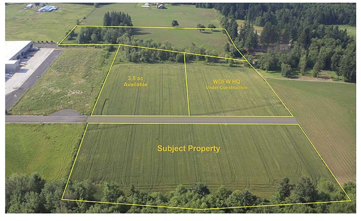 A proposed map of the Wisdom Ridge business park in Ridgefield. Image courtesy Port of Ridgefield