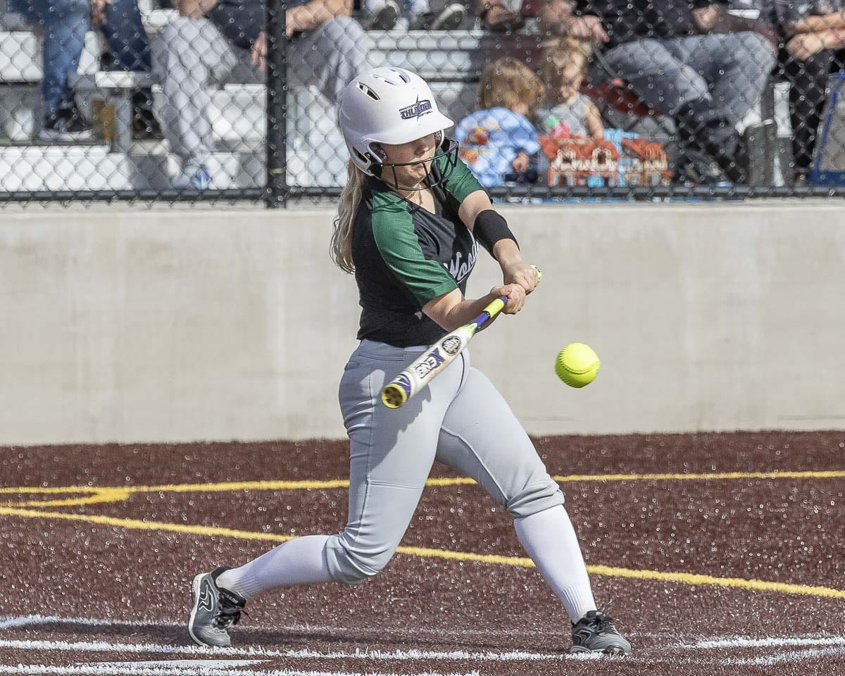 Woodland senior Justice Holcomb said she was 5-1 in the eighth grade and has not grown since. Still, she brings a big game for the defending Class 2A state champions. Photo by Mike Schultz