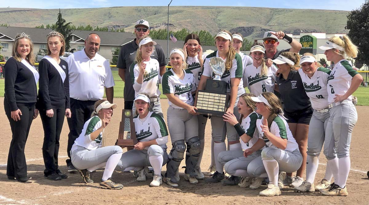 The Woodland Beavers are the 2019 Class 2A state champions in softball. Photo courtesy of the WIAA.