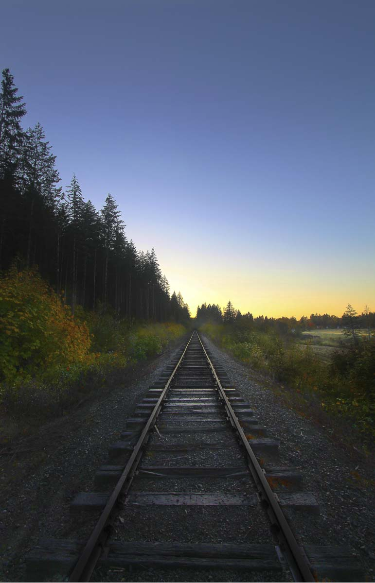 """Sunset Rails"" by Joseph Scott Hongel of Battle Ground High School"
