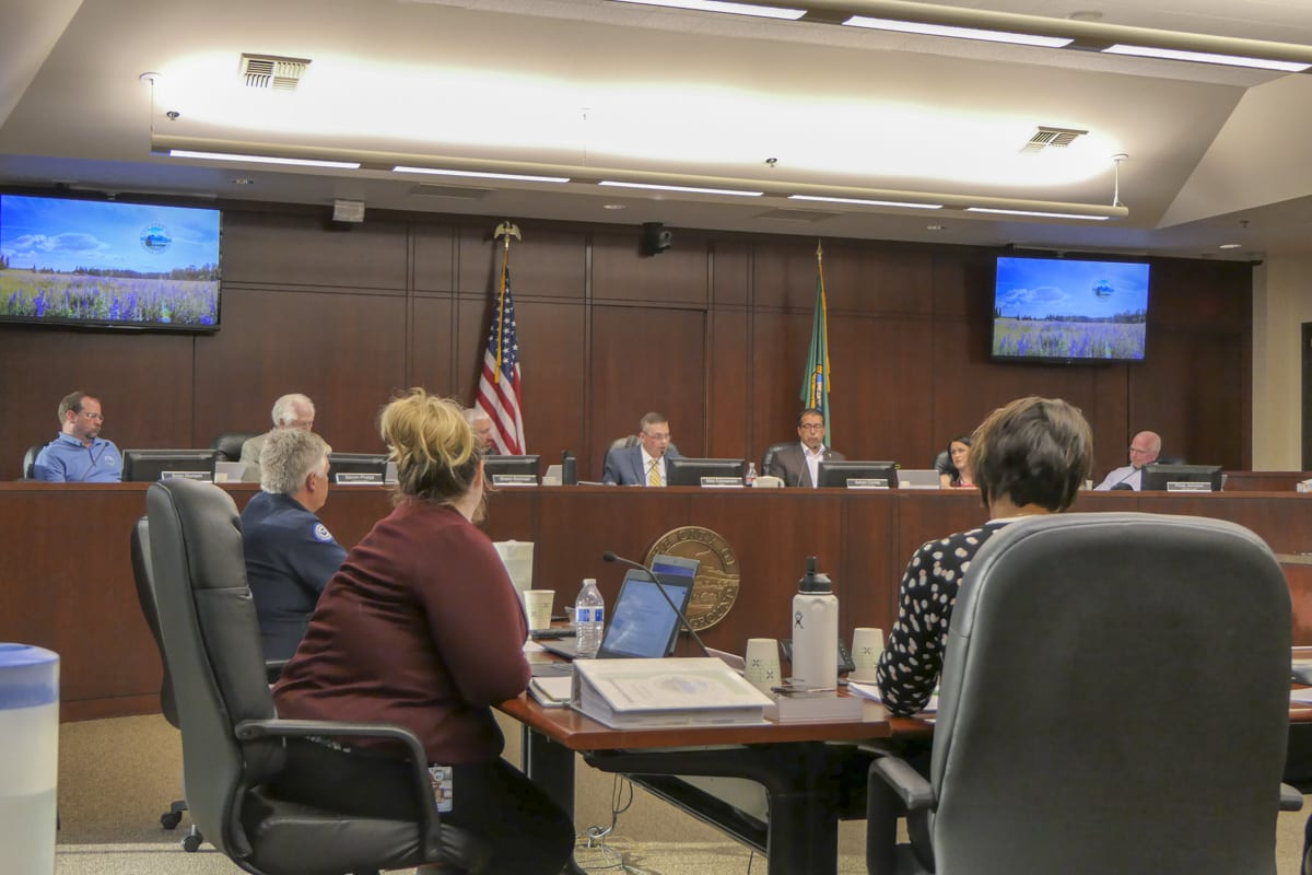 Battle Ground City Council on Monday made a statement regarding calls for a 2nd amendment sanctuary city ordinance. Photo by Chris Brown