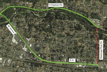 Detour for Washougal River Road beginning June 3