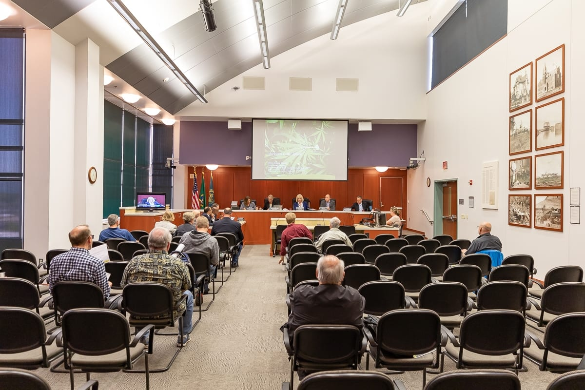 The Clark County Council held a work session this week to talk about code changes if marijuana-related businesses are allowed in unincorporated areas. Photo by Mike Schultz