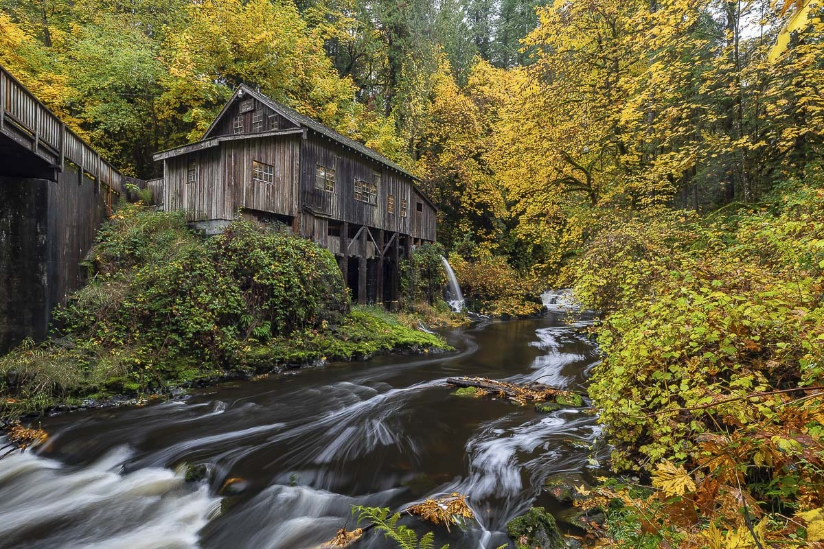 The Cedar Creek Grist Mill in North Clark County is the only fully-operational, water-powered mill in Washington state. Photo by Mike Schultz