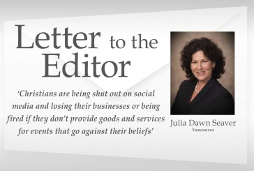 Letter: 'Christians are being shut out on social media and losing their businesses or being fired if they don't provide goods and services for events that go against their beliefs'
