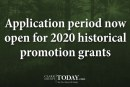 Application period now open for 2020 historical promotion grants