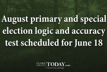 August primary and special election logic and accuracy test scheduled for June 18