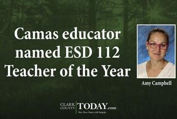 Camas educator named ESD 112 Teacher of the Year