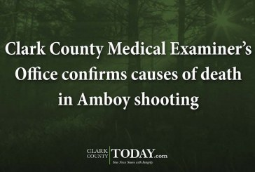 Clark County Medical Examiner's Office confirms causes of death in Amboy shooting