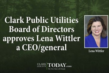 Clark Public Utilities Board of Directors approves Lena Wittler a CEO/general manager