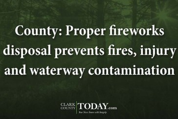 County: Proper fireworks disposal prevents fires, injury and waterway contamination