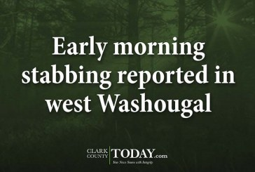 Early morning stabbing reported in west Washougal