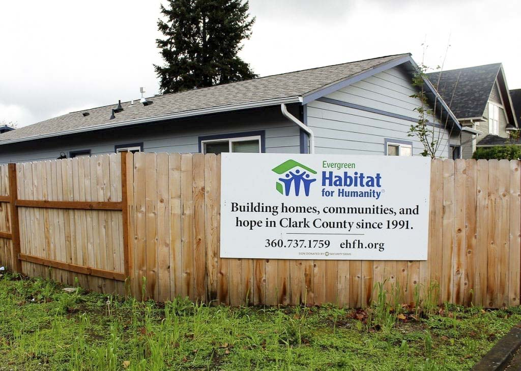 On Wednesday, Evergreen Habitat for Humanity joined Habitat organizations across the country to launch a new national advocacy campaign aimed at improving home affordability for 10 million people in the U.S. over the next five years. Photo courtesy of Evergreen Habitat for Humanity