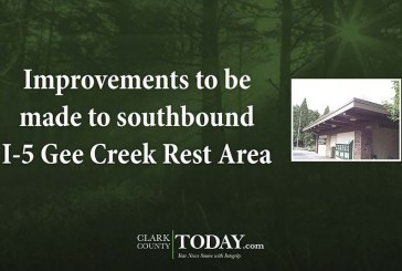 Improvements to be made to southbound I-5 Gee Creek Rest Area
