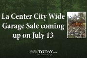 La Center City Wide Garage Sale coming up on July 13
