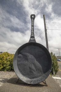 The famous giant frying pan of Long Beach. Photo by Mike Schultz