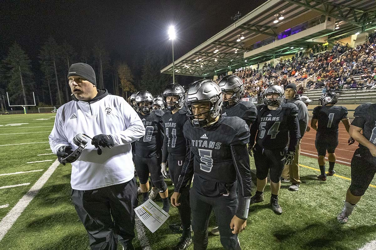 The Union Titans won a semifinal football game at McKenzie Stadium this past fall on the way to a state championship. Is it possible McKenzie Stadium could host a championship game? Photo by Mike Schultz
