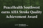 PeaceHealth Southwest earns AHA Stroke Quality Achievement Award