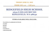 Ridgefield School District will hold a Surplus Sale on June 21