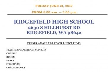 Ridgefield School District will hold a Surplus Sale on June 21