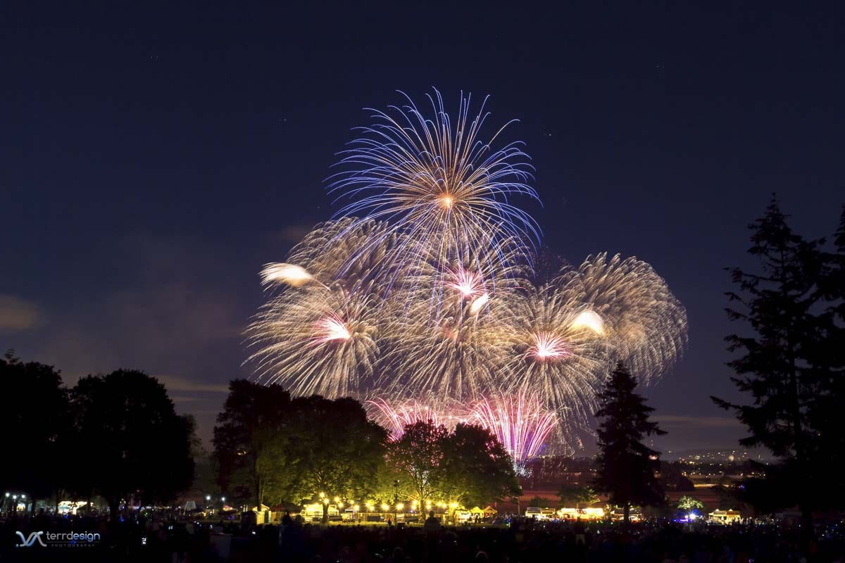 The 56th Annual Vancouver Fireworks Spectacular will celebrate America's freedom with the largest fireworks show in the Pacific Northwest at the Fort Vancouver National Historic Site on the Fourth of July. Photo courtesy of The Historic Trust