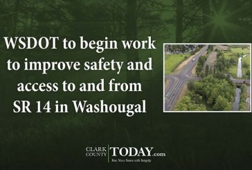 WSDOT to begin work to improve safety and access to and from SR 14 in Washougal