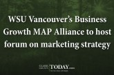WSU Vancouver's Business Growth MAP Alliance to host forum on marketing strategy