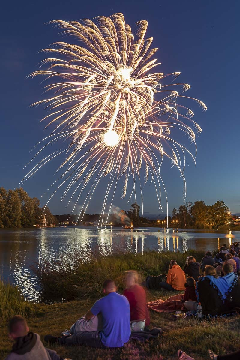 The annual fireworks display over Horseshoe Lake wrapped up the first night of the 2019 Planters Days celebration Thursday. Photo by Mike Schultz