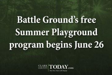Battle Ground's free Summer Playground program begins June 26