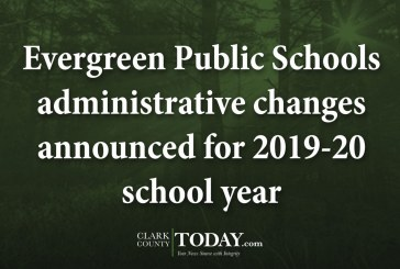 Evergreen Public Schools administrative changes announced for 2019-20 school year