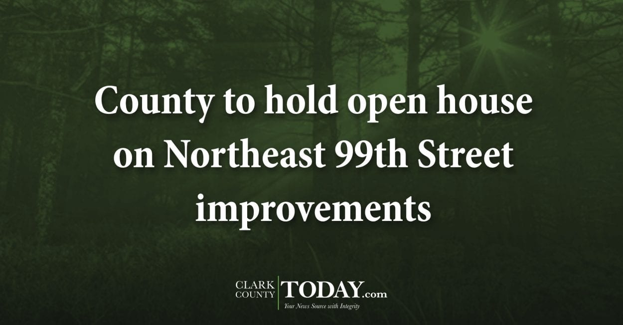 County to hold open house on Northeast 99th Street improvements
