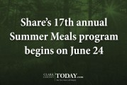 Share's 17th annual Summer Meals program begins on June 24