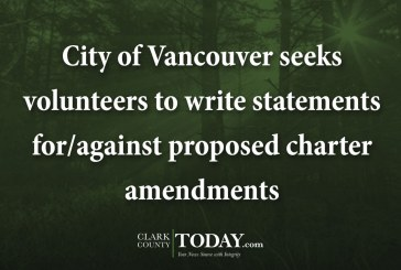 City of Vancouver seeks volunteers to write statements for/against proposed charter amendments
