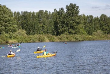 Over 500 paddles join Ridgefield's Big Paddle event this year