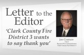 Letter: 'Clark County Fire District 3 wants to say thank you'