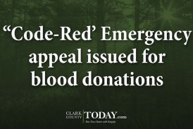 """Code-Red' Emergency appeal issued for blood donations"