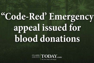 """""""Code-Red' Emergency appeal issued for blood donations"""