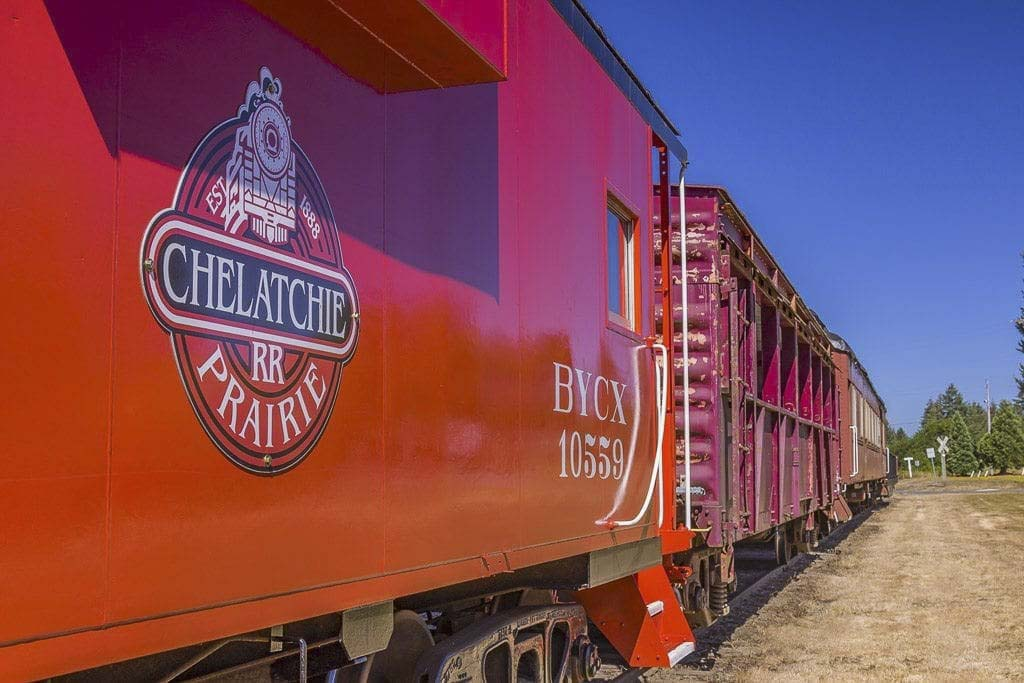 The Chelatchie Prairie Railroad will host its first train robbery of the season, the weekend of Sat., June 27 and Sun. June 28. Photo by Mike Schultz