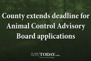 County extends deadline for Animal Control Advisory Board applications