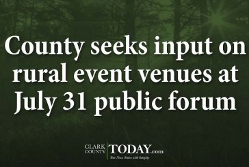 County seeks input on rural event venues at July 31 public forum