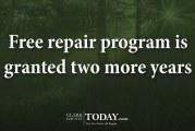 Free repair program is granted two more years